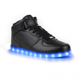 separation shoes 8e4a9 469b7 Schwarze LED-Sneaker in hochwertiger Lederoptik