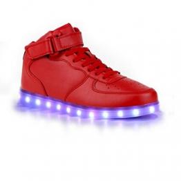 SAGUARO LED-Schuhe, mit 7-LED-Varianten in Farbe Rot