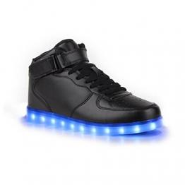 SAGUARO Leuchtschuhe mit 7-LED-Farben in Schwarz