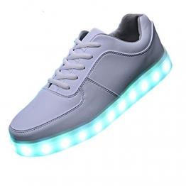 SAGUARO LED-Schuhe mit 7-LED-Leuchtfarben in Weiß