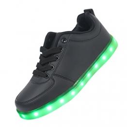 Aufladbare LED-Schuhe in Schwarz