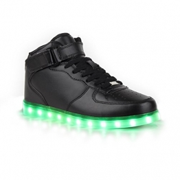 LED Schuhe für Herren mit leuchtender Sohle in Schwarz