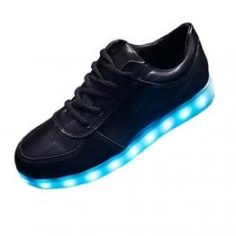 Leuchtende LED Schuhe für Herren in Schwarz