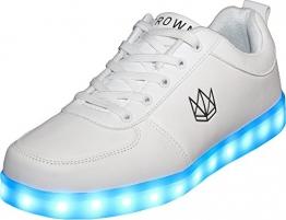Weiße LED Schuhe für Herren mit blinkender Sohle